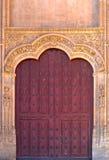 Old wooden Church door Stock Photo