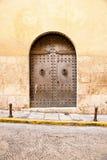Old wooden church door Stock Photography