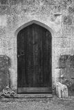Old wooden church door Royalty Free Stock Photo