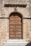 Old wooden church door Royalty Free Stock Images