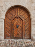 Old wooden church door. In czech republic Royalty Free Stock Image