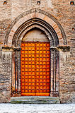 Old wooden church door. Stock Photos
