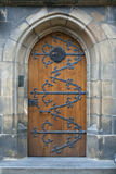 Old wooden church door Royalty Free Stock Photos