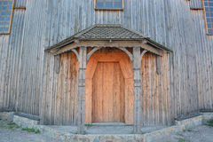 Old wooden church. On the island of Khortytsya in Zaporozhye, Ukraine Royalty Free Stock Image