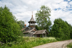 Old wooden church in Karelia Stock Images