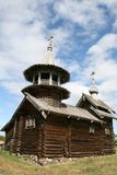 Old wooden church on Kizhi island Stock Photo