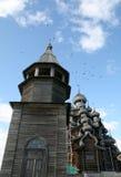 Old wooden church on Kizhi island Royalty Free Stock Photos