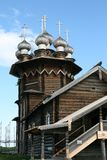 Old wooden church on Kizhi island Stock Photography