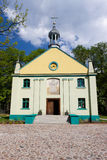 Old wooden church in Lodz Stock Images