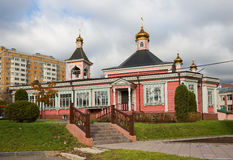 Old wooden Church in Moscow Stock Photography