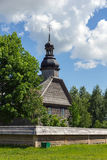 Old wooden church near Minsk, Belarus. Royalty Free Stock Image