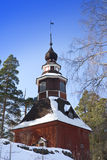 Old wooden church in the open-air museum Seurasaari island, Helsinki, Finland Royalty Free Stock Images