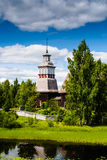 Old Wooden Church. The old wooden church of Petäjävesi, Finland is on the Unesco world heritage list royalty free stock photo