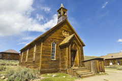 Old Wooden Church. Old Wooden Pioneer Church in Bodie town, California Royalty Free Stock Images