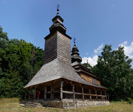 Old wooden Church in Pirogovo, Kiev, Ukraine Stock Images
