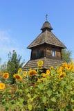 Old wooden church. On territory Sorochintsy Fair in Velyki Sorochyntsi, Ukraine Stock Photography