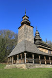 Old wooden church in Ukrainian village Royalty Free Stock Photo