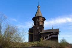 Old wooden church in a village Royalty Free Stock Photography