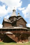 Old wooden church in Vitoslavlitsy Royalty Free Stock Photo