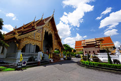 Old wooden church of Wat Lok Molee Chiang mai Royalty Free Stock Images
