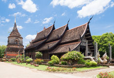 Old wooden church of Wat Lok Molee, Chiangmai, Thailand Royalty Free Stock Photography