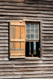 Old wooden church window Stock Photography