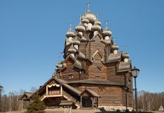 Old wooden church, wooden architecture of the Russian north Royalty Free Stock Photos