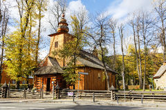 Old wooden church in Zakopane Royalty Free Stock Images