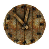 Old wooden clock dial royalty free illustration