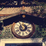 Old wooden clock Royalty Free Stock Photo