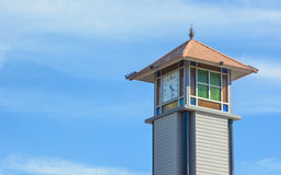 Old wooden clock tower Royalty Free Stock Photos
