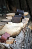 Old wooden clogs Royalty Free Stock Photos