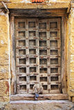 Old wooden closed door Royalty Free Stock Image