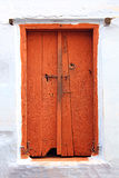 Old wooden closed door in india Stock Photo