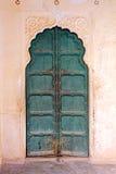 Old wooden closed door in india Stock Photo