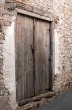 Old wooden closed Door Stock Photo