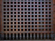 Old wooden closed textured door Stock Images