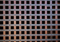Old wooden closed textured door Royalty Free Stock Photography