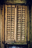 Old wooden closed window texture. Royalty Free Stock Images
