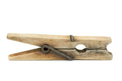 Old wooden clothespin Royalty Free Stock Photos