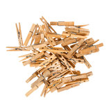 Old wooden clothespins Royalty Free Stock Images