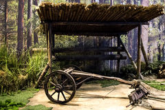 Old wooden coach Royalty Free Stock Image