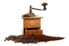Old wooden coffee grinder Stock Photos