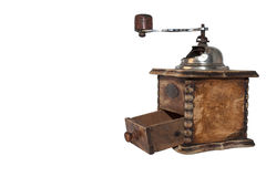 Old wooden coffee grinder Stock Photo