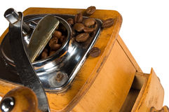 Old wooden coffee mil Royalty Free Stock Photo