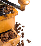 Old wooden coffee mill Royalty Free Stock Image