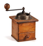 Old wooden coffee mill Stock Photo