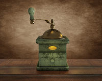 Old wooden coffee mill. royalty free stock photography