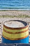 Colored wooden barrel Stock Photos