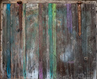 The old wooden vintage colored door Stock Image